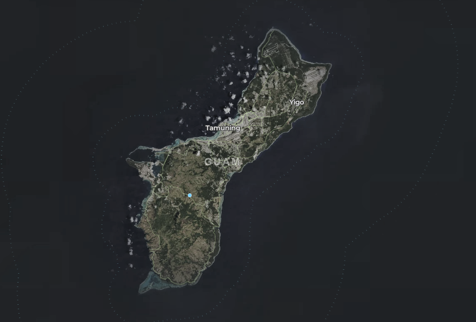 map of wind turbines in Guam
