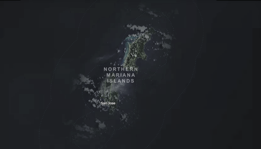 map of wind turbines in Northern Mariana Islands
