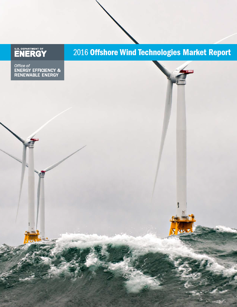 The cover of the 2016 Offshore Wind Technologies Market Report.