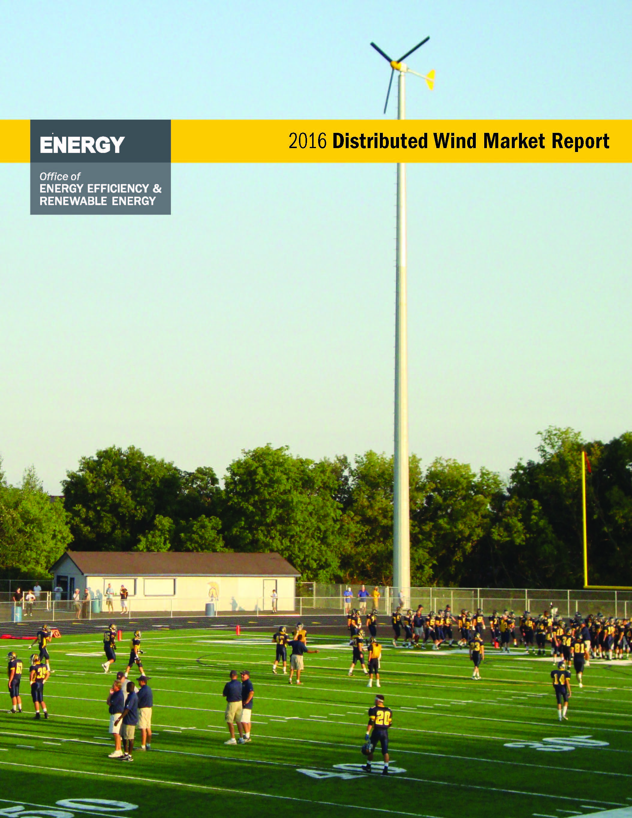 The cover of the 2016 Distributed Wind Report.