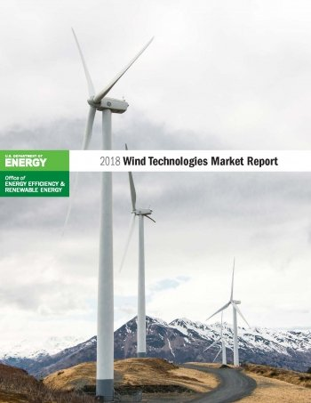photo of cover of 2018 wind technologies market report