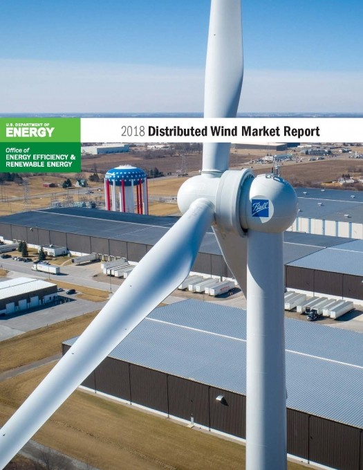 photo of cover of 2018 distributed wind market report