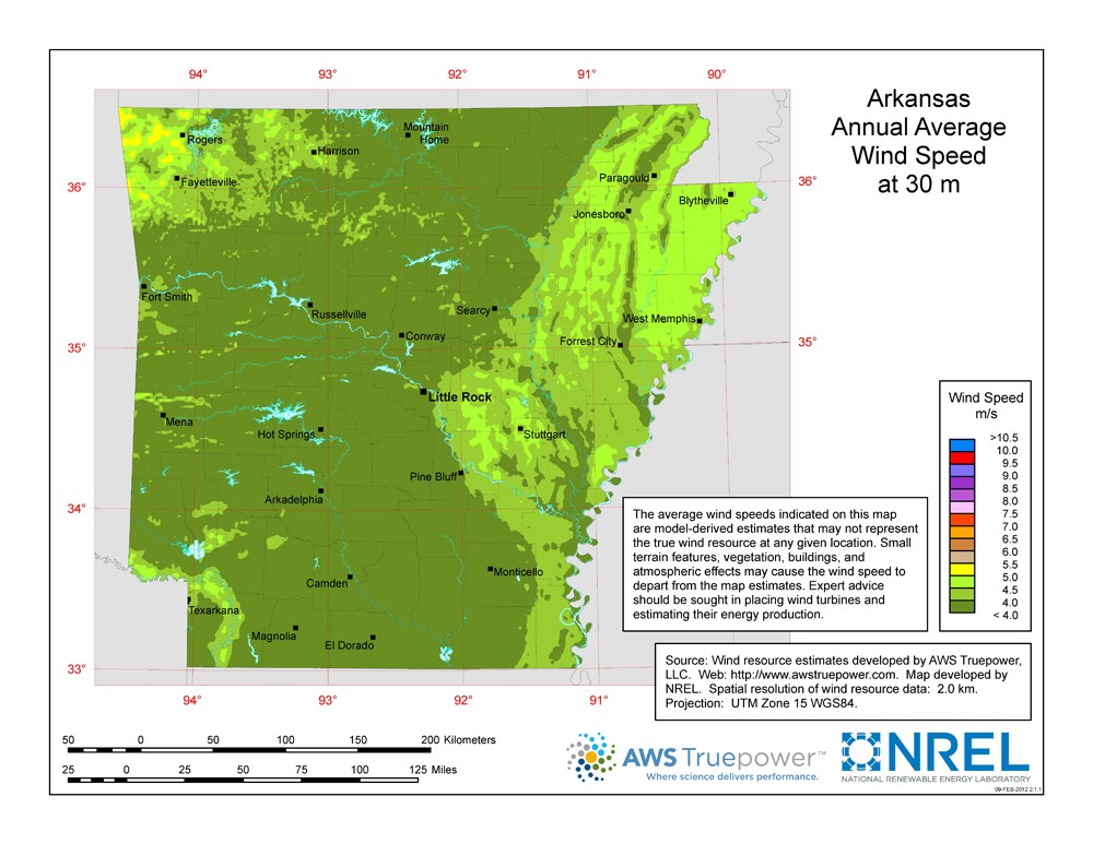 WINDExchange: Wind Energy in Arkansas on industrial map of italy, industrial map of jamaica, industrial map of ontario canada,