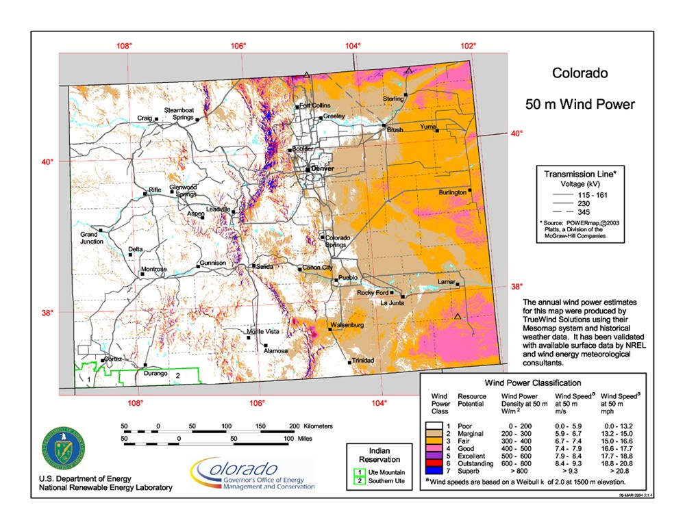 WINDExchange: Wind Energy in Colorado