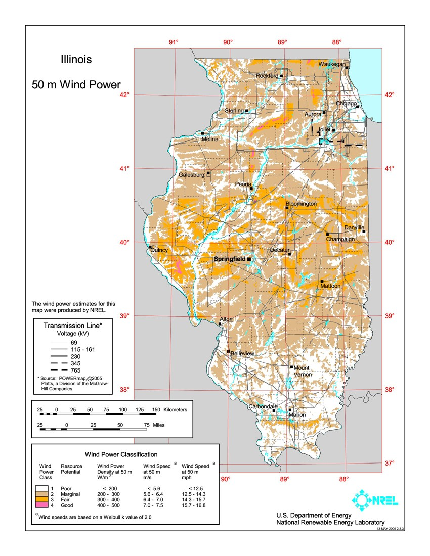 WINDExchange Wind Energy In Illinois - Map in illinois