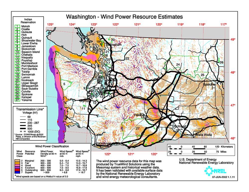 WINDExchange: Wind Energy in Washington